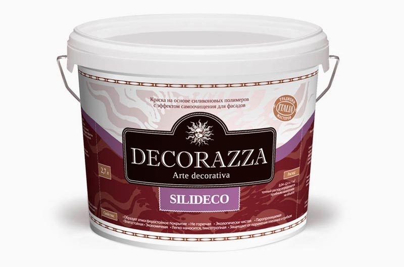 Фасадная краска Silideco Decorazza